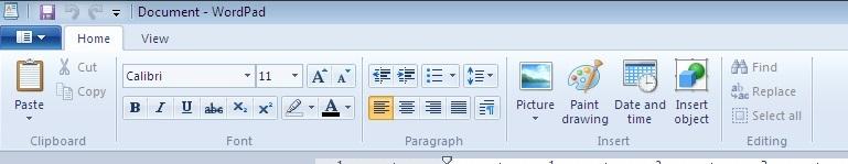home-tab-of-wordpad