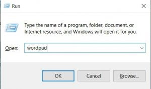 how to open wordpad