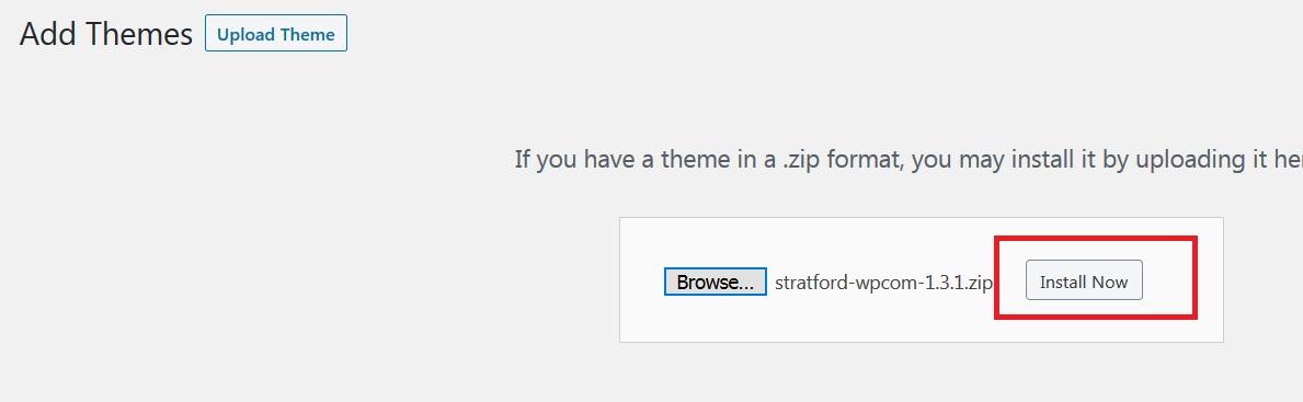 install zip file