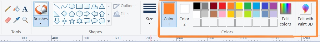 color in home tab