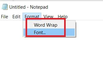 format-menu-in-notepad