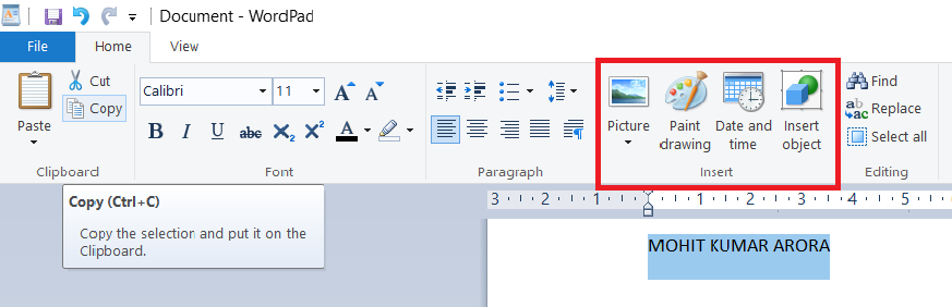 insert-group-in-wordpad