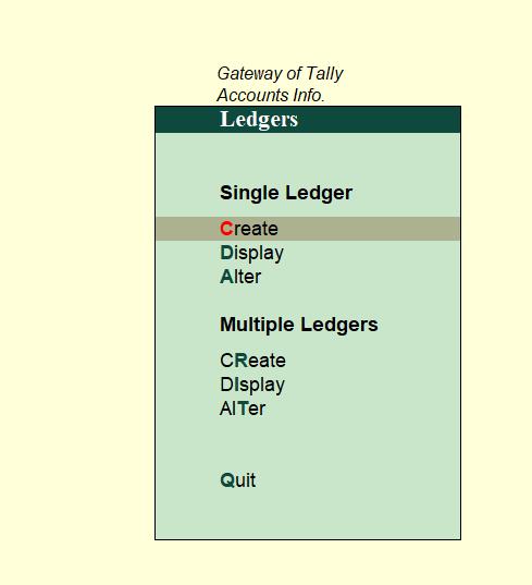 single and multiple ledgers