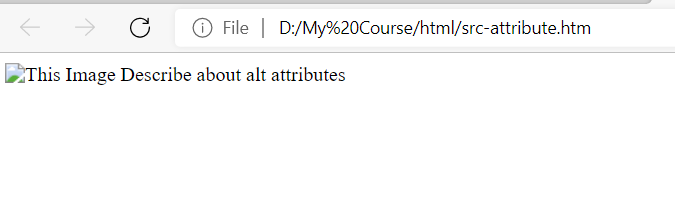 alt attribute with img tag in html